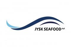Logo til Jysk Seafood - bølgestruktur med form som en fisk