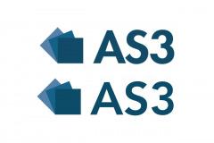 Pga. manglende vektorfil til skiltning, skulle AS3's logo rentegnes