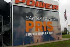 Folie med print til stort vinduesparti hos Power Aarhus