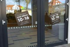 Folieskiltning på vinduer ved Borgen Shopping