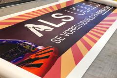Stort banner for Als Udlejning til reklamer i Skansen Sønderborg