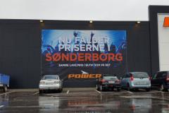 Stort banner til åbning af Power i Sønderborg