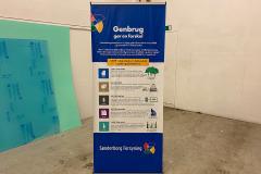 Roll-up bannere om genbrug af Sønderborg Forsyning