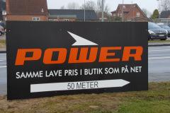 Power skilt