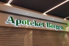 Facadeskilt med LED til Apoteket i Borgen Shopping
