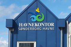 Facadeskilt for Sønderborgs Havnekontor