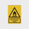 Brandfarlige stoffer skilt