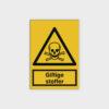 Giftige stoffer skilt