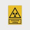 Ioniserende stråling skilt