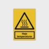 Høje temperaturer skilt