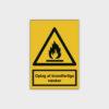 Oplag af brandfarlige væsker skilt