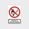 Rygning og åben ild forbudt sikkerhedsskilt