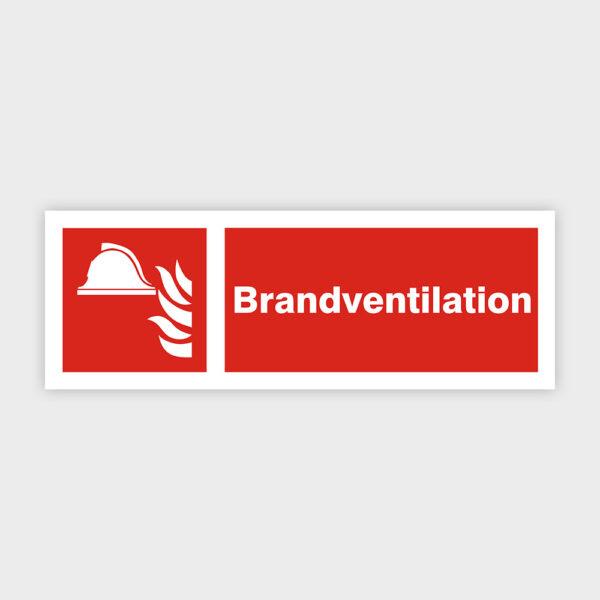 Brandventilation sikkerhedsskilt