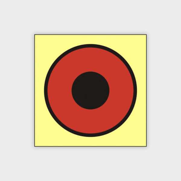Push button for fire alarm sign