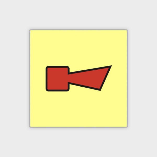 Horn fire alarm sign
