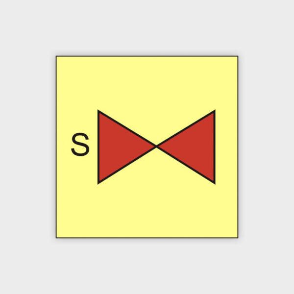 Sprinkler section valve sign