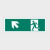 Sikkerhedsskilt: Nødudgang med pil mod venstre op