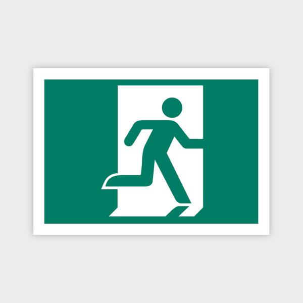 Exit til højre skilt