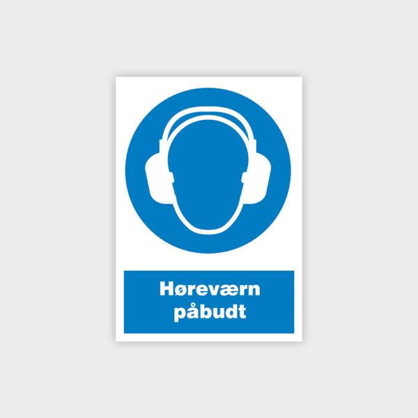 Høreværn påbudt sikkerhedsskilt